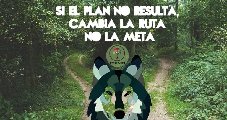 Si el plan no resulta cambia la ruta no la meta.