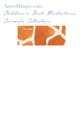 Amor Milagre Children's Book Animals Illustrations The Giraffe 2 nursery amormilagre.com