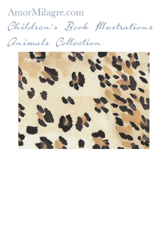 Amor Milagre Children's Book Animals Illustrations The Leopard 2 nursery amormilagre.com