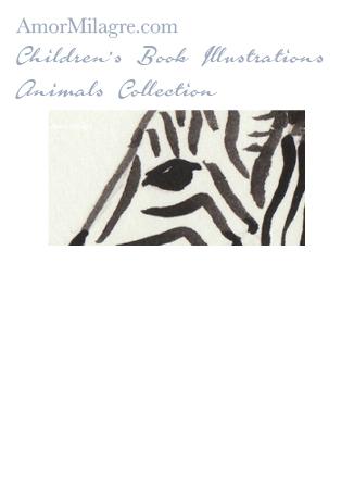Amor Milagre Children's Book Animals Illustrations The Zebra detail nursery amormilagre.com