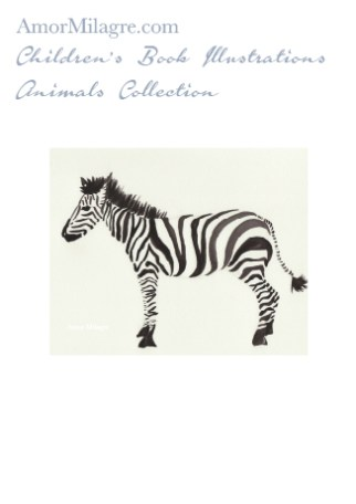 Amor Milagre Children's Book Animals Illustrations The Zebra beautiful for any age or space especially in a nursery amormilagre.com