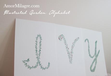 Amor Milagre Illustrated Garden Alphabet Letter IVY amormilagre.com
