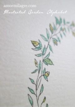 Illustrated Garden Alphabet Letter J-d Amor Milagre amormilagre.com