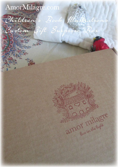 Amor Milagre Custom Gift Surprise Box The Shop at Dove Cottage Children's Book Illustrations beautiful for all spaces and ages, especially in a nursery amormilagre.com