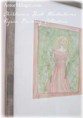 Amor Milagre Woman Feeling Calm in Nature's Trees The Shop at Dove Cottage Children's Book Illustrations beautiful for all spaces and ages, especially in a nursery amormilagre.com