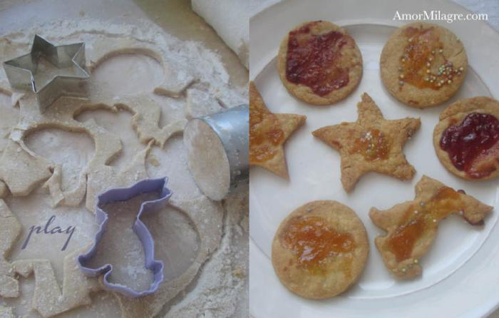 Amor Milagre Hop into the New Year's 2018 1 organic bunny star cookie cutter cookies sugar-free kids desserts apricot raspberry organic vegan recipe journal amormilagre.com