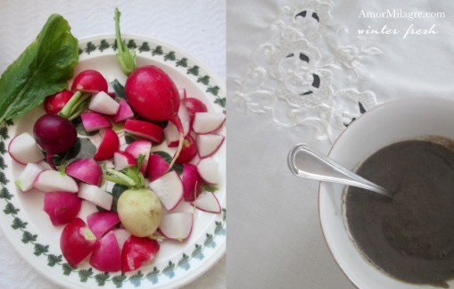 Amor Milagre Winter Fresh Teatime 1 for baby and me organic vegan recipe journal amormilagre.com