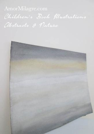 Amor Milagre Golden Waves Golden Yellow grey Color Nature Paintings Watercolor Abstract The Shop at Dove Cottage Children's Book Illustrations beautiful for all spaces ages, nursery amormilagre.com