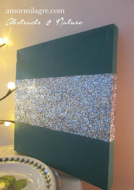 Amor Milagre Forest Green Silver Glitter Nursery Painting 4 Baby & Child original artwork amormilagre.com
