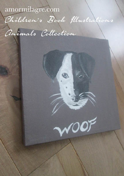 Amor Milagre Jack Russell Terrier Dog Painting 3 original artwork amormilagre.com