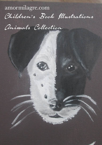 Amor Milagre Jack Russell Terrier Dog Painting original artwork amormilagre