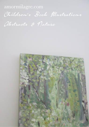 Amor Milagre Paradise Garden Trees Oil Painting original artwork amormilagre.com