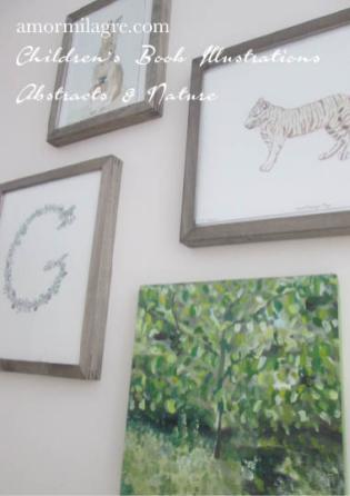 Amor Milagre Sunshine in the Garden Trees 1 Oil Painting original artwork amormilagre.com