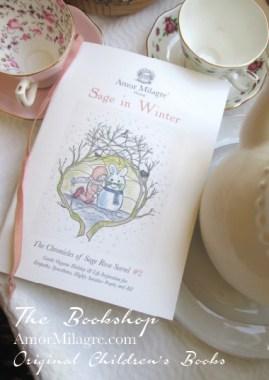 Amor Milagre Presents Sage in Winter 9 holiday Ethical Bookshop organic original children's book girls Baby & Child amormilagre.com