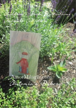 Amor Milagre Antonia's Moving to a wildflower hill Organic garden Antonia's Bakery Children's Book Illustration The Shop at Dove Cottage Children's nursery original artwork and art prints matching children's book at amormilagre.com