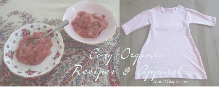 Amor Milagre Cozy November, Pink Applesauce Organic Vegan Non-Toxic Recipe & Apparel Girls Organic Cotton Nightgown 1 amormilagre.com