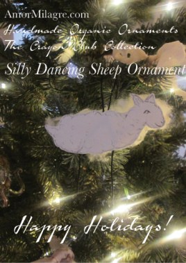 The Silly Dancing Sheep Handmade Holiday Ornaments Organic Ethical Gifts 1 amormilagre.com