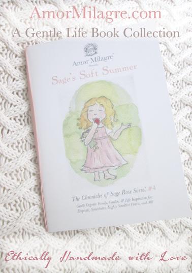 Amor Milagre Presents Sage's Soft Summer nursery knit blanket ethical organic original children's book amormilagre.com nursery bookshop strawberry baby doll Hazel memories vegan girls