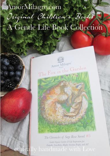 Amor Milagre Presents The Fox in the Garden ethical organic original children's book amormilagre.com nursery bookshop fox and bunny rabbit vegetables vegan