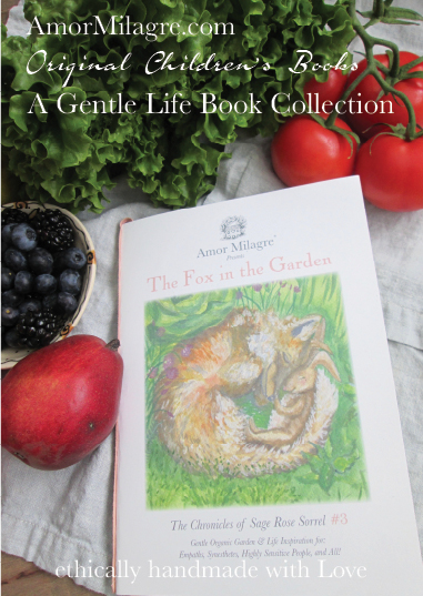Amor Milagre Presents The Fox in the Garden ethical organic original children's book amormilagre.com nursery bookshop fox and bunny rabbit vegetables vegan