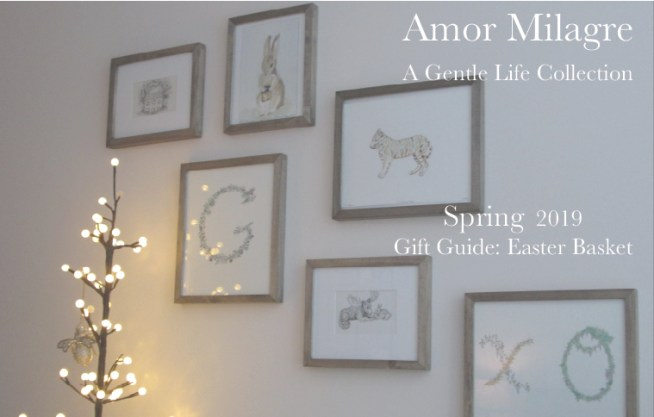 Amor Milagre Gift Guide Easter Basket, Art Gallery Painting Ethical Spring Collection 2019 Custom Design Art Gallery Organic Vegan Gifts Baby & Child amormilagre.com