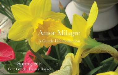 Amor Milagre Gift Guide Easter Basket, Daffodils Ethical Spring Collection 2019 Custom Design Art Gallery Organic Vegan Gifts Baby & Child amormilagre.com