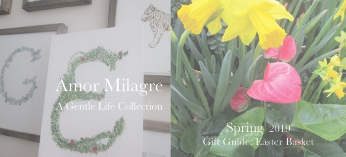 Amor Milagre Gift Guide Easter Basket, art gallery custom Ethical Spring Collection 2019 Custom Design Art Gallery Organic Vegan Gifts Baby & Child amormilagre.com