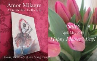 Amor Milagre 2019 Mother's Day Sale Spring Ethical Organic Gift Shop Handmade Gift Shop Art Vegan Baby & Child Woman feminist tulips gypsy dancer ballet amormilagre.com