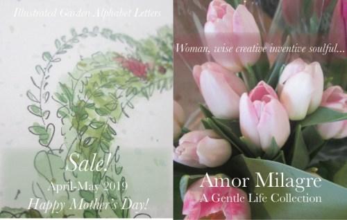 Amor Milagre 2019 Mother's Day Sale Spring Ethical Organic Gift Shop Handmade Gift Shop Art Vegan Baby & Child Woman feminist tulips illustrated letter art amormilagre.com
