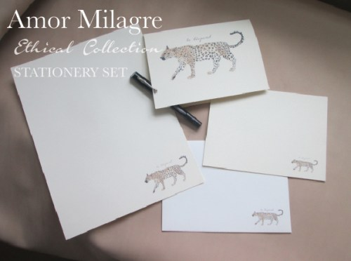 Amor Milagre Ethical Personalized Romantic Stationery Collection & Sets amormilagre.com love letter Paperie sustainable paper leopard animals