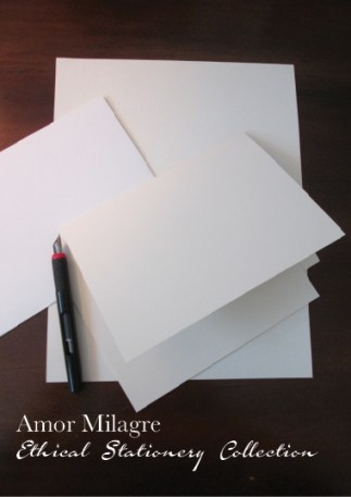 Amor Milagre Ethical Stationery Collection & Sets amormilagre.com Paperie Write a love letter