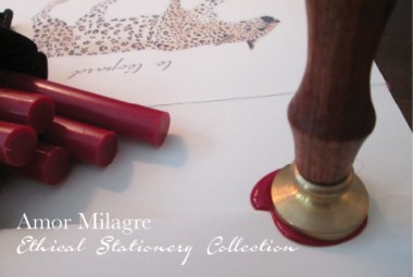 Amor Milagre Ethical Stationery Collection & Sets amormilagre.com Paperie red wax seal leopard greeting card