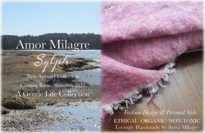 Amor Milagre Spring 2019 Sylph Ocean Air Ethical Organic Apparel Collection Fashion Personal Style women's chic clothing toddler Handmade Gift Shop Art Apparel Vegan Baby & Child amormilagre.com