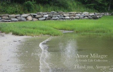 Amor Milagre Colour Mood Late Summer Days Thank you, Summer 2019 Ethical Organic Gift Shop Handmade Gift Shop Art Baby & Child grass beach stone wall ocean amormilagre.com