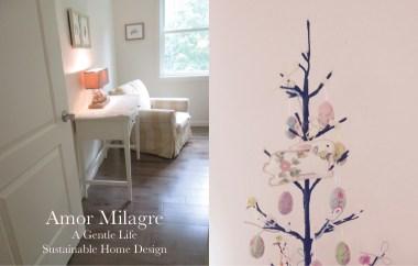 Amor Milagre Custom Built Home Interior Design Moments Goodnight, Dove Cottage 2019 Ethical Master Bedroom Easter Tree amormilagre.com