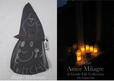 Amor Milagre Happy Halloween Interior Design 2019 Ethical Organic Gift Shop Handmade Gift Shop Art Baby Child The Crayon Club Childrens Happy Witch drawing candles night amormilagre.com