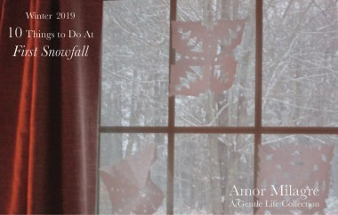 Amor Milagre 10 Things to Do at First Snowfall, Early Winter Holiday Traditions 2019 Ethical Organic Gift Shop Handmade Art Baby & Child Parent Family paper snowflakes kids amormilagre.com