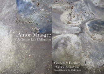 Amor Milagre Shop Golden Rejuvenating Rain Detail 1 Tree Golden & Earthen The Enchanted Tree New Children's Book & Art Collection Autumn 2019 blue gold crystal rock art amormilagre.com