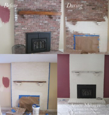 Amor Milagre Home Renovation Design Diaries Living Room Fireplace Makeover Holiday stockings Interior Design Process Ethical Gift Shop amormilagre.com
