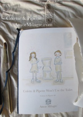 Amor Milagre Colette & Pipette Won't Use the Toilet New Ethically Handmade Children's Book Front Cover amormilagre.com