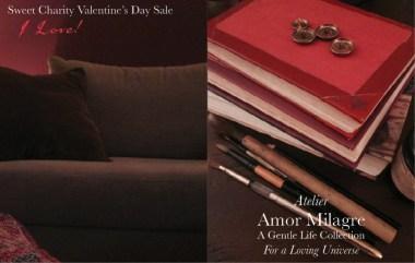 Amor Milagre I Love! Sweet Charity Valentine's Day Sale, Crimson Crush Colour Mood Fashion Personal Style 2020 Atelier Art Books Children Parent Ethical Gift Shop amormilagre.com