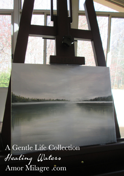 Amor Milagre Peaceful Pond Oil Painting, Healing Waters, Art Prints, Cards 1 amormilagre.com 2