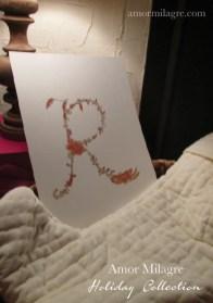 Illustrated Garden Alphabet Letter R Red Autumn Golden Amor Milagre amormilagre.com