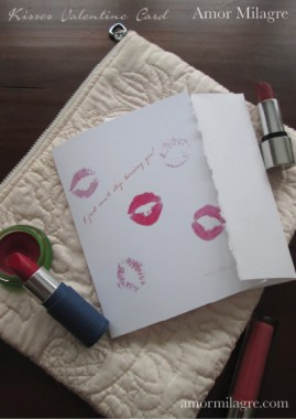 Amor Milagre I Just Can't Stop Kissing You! Kisses Valentine Greeting Card amormilagre.com