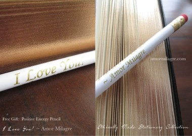 I Love You! Positive Energy Pencils Free Gift with Purchase Amor Milagre amormilagre.com 2