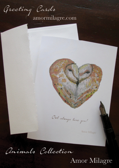 Amor Milagre Owl Always Love You! Greeting Card Love Valentine amormilagre.com