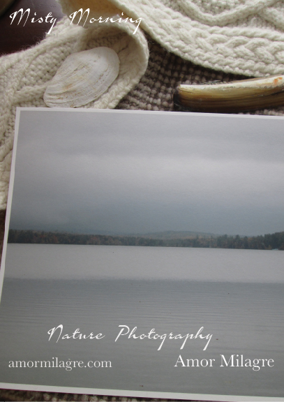Misty Morning Waterscape New England Pond Photography Art Print Amor Milagre 1 amormilagre.com