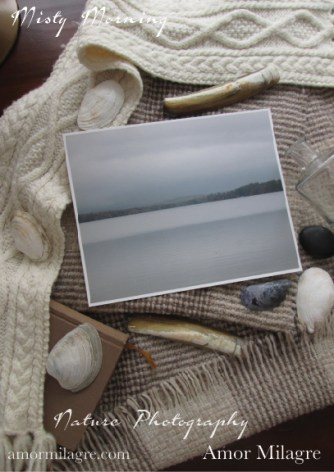 Misty Morning Waterscape New England Pond Photography Art Print Amor Milagre amormilagre.com