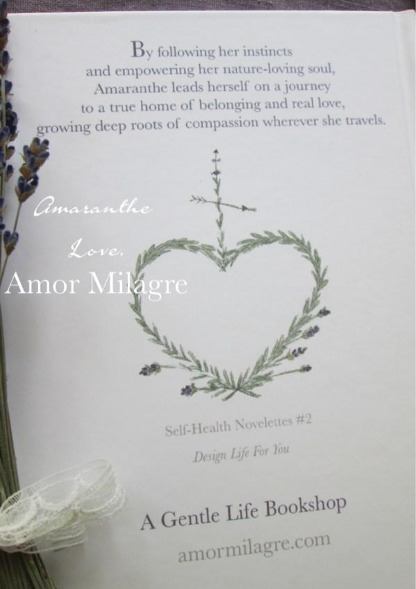 Amaranthe Novel by Amor Milagre Self-Health Book Lavender French NYC 3amormilagre.com