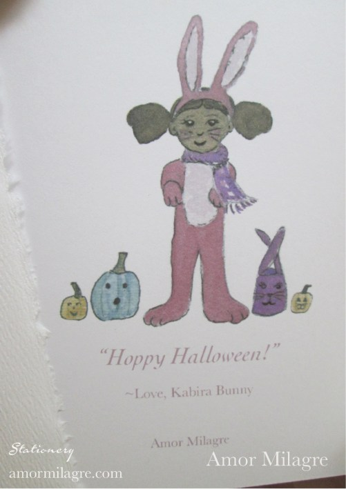 Amor Milagre Kabira Hoppy Halloween Children Greeting Card 2 amormilagre.com